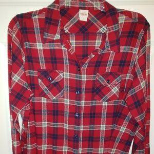 Mossimo Plaid Flannel shirt, Size 2(2X)